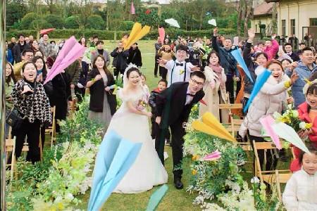 婚礼创意小道具,彩色纸飞机
