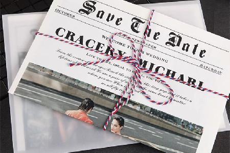 婚礼创意小道具,婚礼报纸